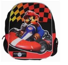 "Mario Brothers Bros Large 16"" Backpack Back Pack Bag - Mariokart"