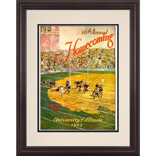 NCAA - 1925 Illinois vs. Michigan 8.5 x 11 Framed Historic Football Print