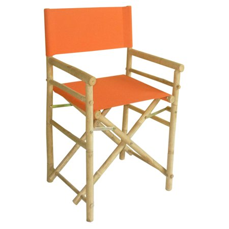 18' Directors (Bamboo 18 Inch Standard Height Directors Chairs with Solid Cover - Set of 2)