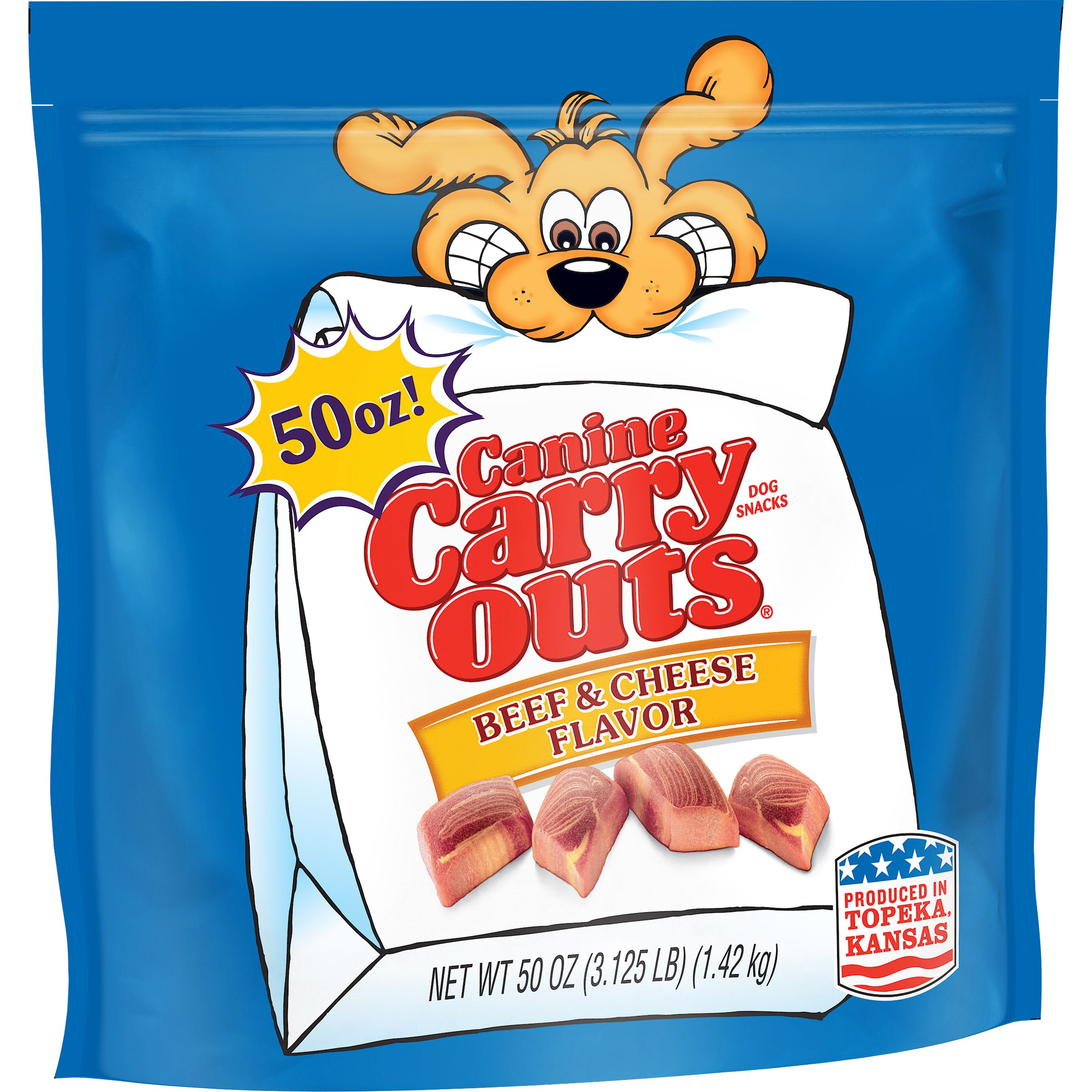 Canine Carry Outs Beef & Cheese Flavor Dog Snacks, 50-Ounce Bag
