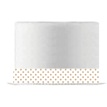 White and Burlap Brown Polka Dot Edible Cake Decoration Ribbon -6 Slim Strips - Polka Dot Cake