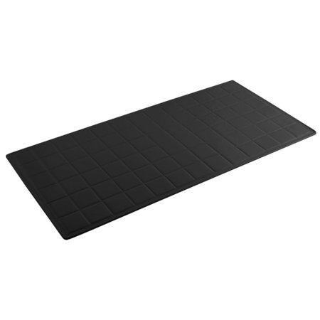 Bon Chef 9601 BLACK Sandstone Long Size Solid Tile Tray ()