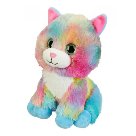Spark. Create. Imagine. Tie-Dyed Plush Cat, Multicolor, 9""
