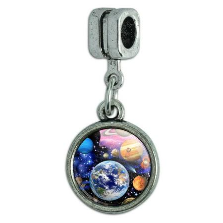Planets Solar System Earth Nebula Italian European Style Bracelet Charm Bead Earth Italian Charm