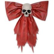 Large Red Skull Creepmas Bow Wall Door Christmas Halloween Decoration