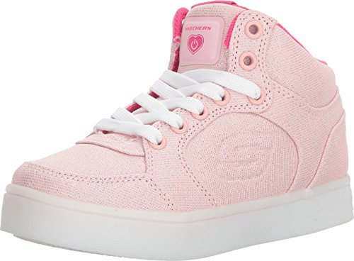 Skechers Kids Womens Energy Lights 10939L (Little Kid/Big Kid) Denim/Pink 6 Big Kid M