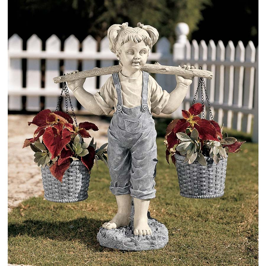Flowers for Felicity Little Girl Garden Statue by Design Toscano