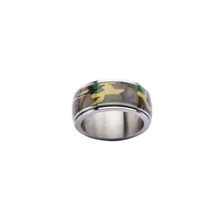 Inox Jewelry FR1911-13 Camo Army Spinner Stainless Steel Ring - 13 - Camouflage Jewelry