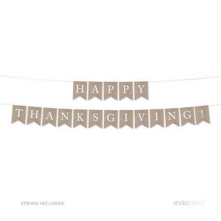 Happy Thanksgiving! Burlap Pennant Party Banner