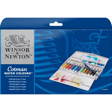 Newton Cotman Watercolour Tube - Winsor & Newton Cotman Watercolor - Painting PLUS Tube Set