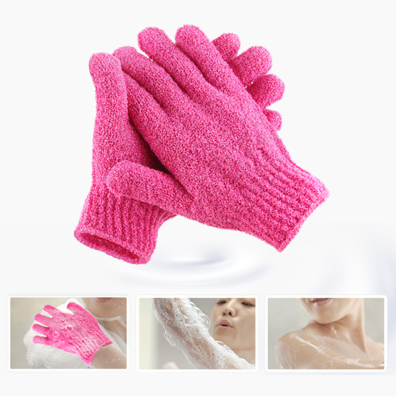 Smarit 1 Pair Exfoliating Shower Bath Glove Scrubber Shower Dead Skin Cell Remover Body Spa Massage Sponge Gloves