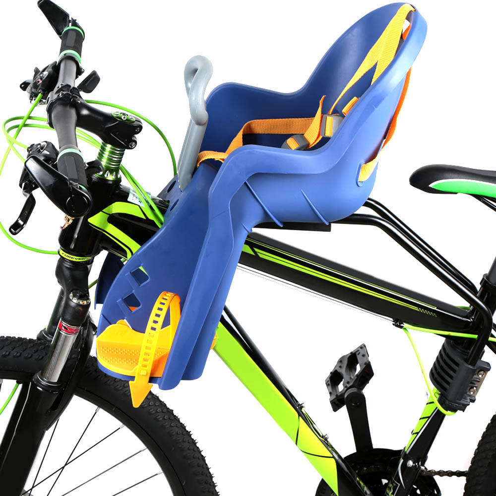 Bicycle Front Baby Seat Bike Carrier with Handrail ,Royal blue
