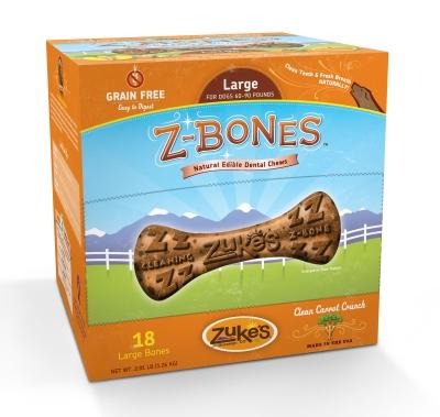 Zuke's Z-Bones Clean Carrot Crisp Natural Edible Dental D...