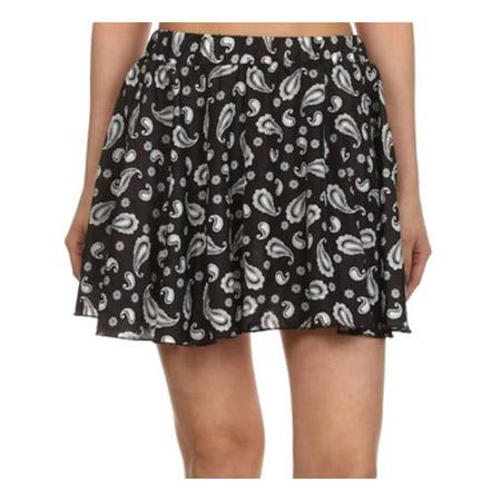 Women Summer Floral Flared Short Vintage High Summer Skater Pleated Skirt