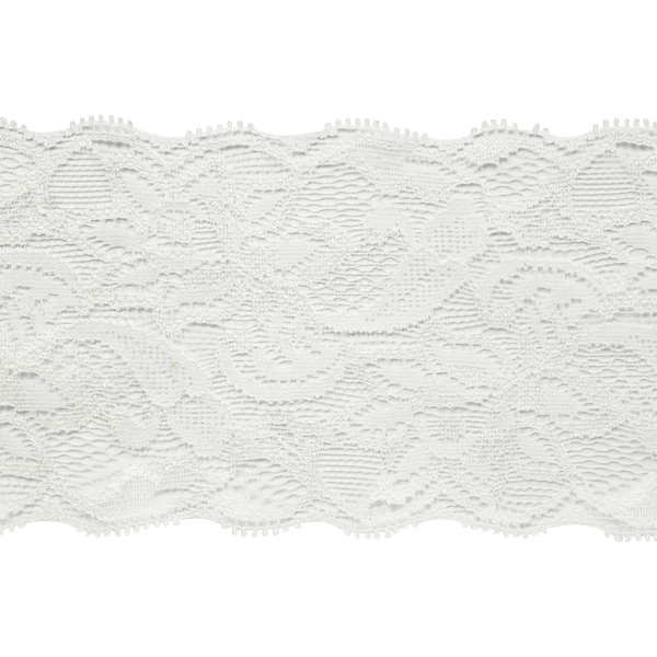"""Expo Int'l 5 yards of Amelia 3 1/4"""" Stretchable Polyester Chantilly Lace Trim"""
