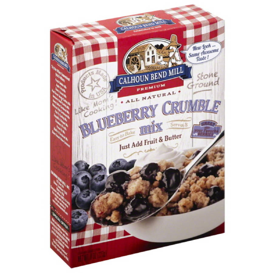 Calhoun Bend Mill Premium Blueberry Crumble Mix, 8 oz, (Pack of 6)