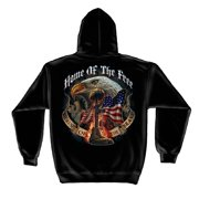 Home Of The Free Because Of The Brave Hooded Sweatshirt, Black, 3XL