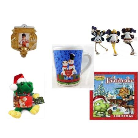 Christmas Fun Gift Bundle [5 Piece] - Hallmark Basketball Photo Frame Ornament - Angel Princess