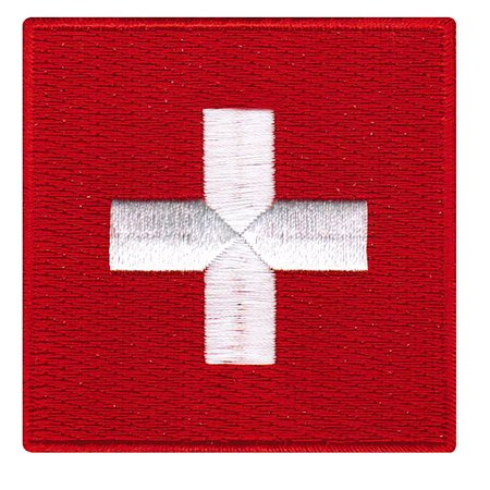 Switzerland Flag Embroidered Iron-on Patch