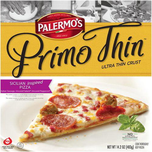 Palermo's Primo Thin Ultra Thin Crust Sicilian Inspired Pizza, 14.2 oz