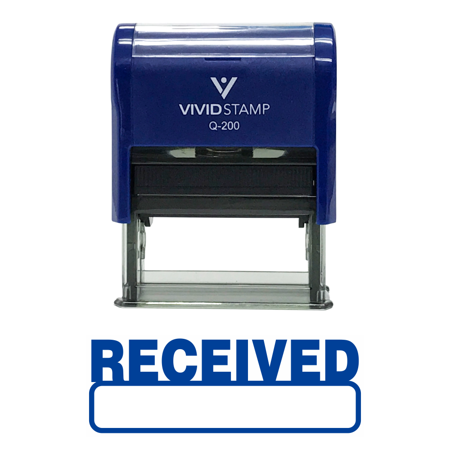 Received Stamp (Basic RECEIVED Self Inking Rubber Stamp (Blue Ink) -)
