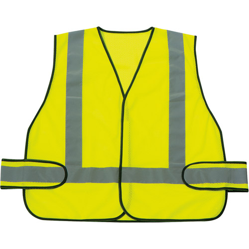 Sperian Protection Americas RWS-50004 Green Vest With Reflective Strips