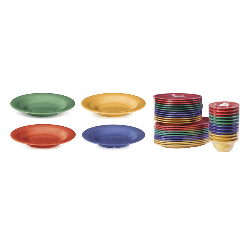 Diamond Mardi Gras 13 oz 9.25 x 1.25 Bowl Mix Pack of 4 Mardi Gras Colors Melamine/Case of 24
