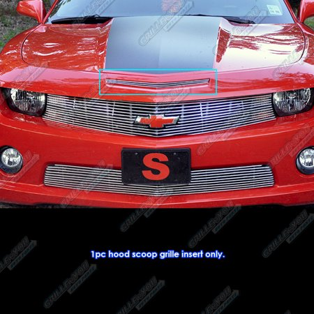 fits 2010 2013 chevy camaro hood scoop billet grille grill insert. Black Bedroom Furniture Sets. Home Design Ideas