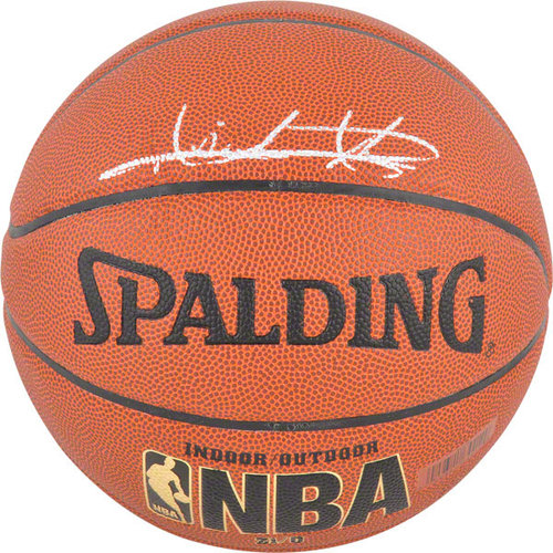 NBA - Isiah Thomas Detroit Pistons Autographed Indoor/Outdoor Spalding Basketball