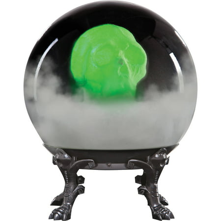 Crystal Ball with Phantom Skull Halloween Decoration - Halloween Crystal Ball