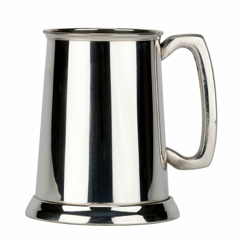 Friary Plain Glass Bottom Fine English Pewter Tankard Beer Mug Made in England by Pinnacle Peak Trading Company
