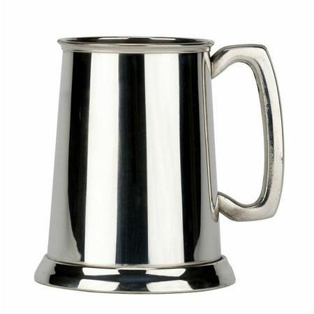 Pewter Glass Bottom - Friary Plain Glass Bottom Fine English Pewter Tankard Beer Mug Made in England