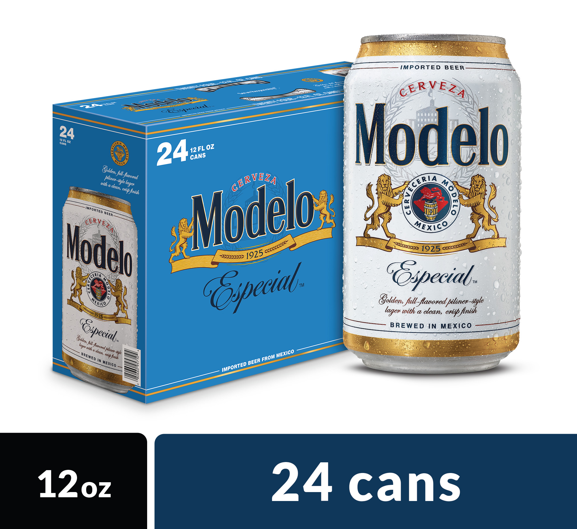 Modelo Especial Mexican Import Beer, 24 pk 12 fl oz Cans, 4.4% ABV