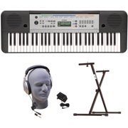 Yamaha YPT-255 61-Key Premium Keyboard Pack with Headphones, Power Supply, and Upgraded Secure Bolt-On Stand