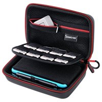 [New 3DS XL/New 2DS XL Case] Smatree Hard Protective Carrying Case for New Nintendo 3DS, New 2DS XL, New 3DS XL, Nintendo New 3DS XL -Super NES Edition-[NOT FOR Nintendo Switch and 2DS] (Black&Red)