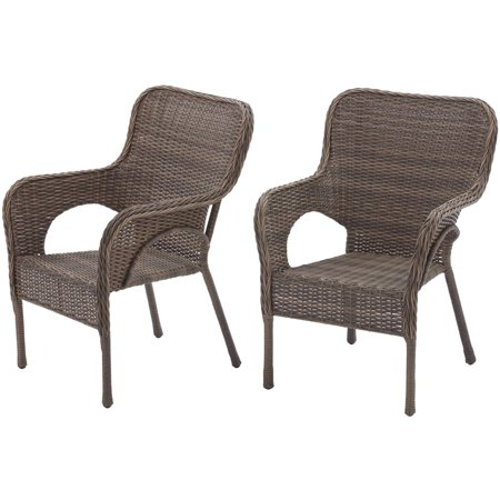 Better Homes and Gardens Camrose Farmhouse Mix and Match Stacking Wicker  Chairs  Set of 2. Better Homes and Gardens Camrose Farmhouse Mix and Match Stacking