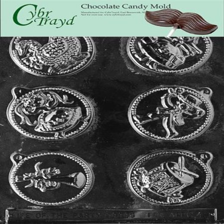 Cybrtrayd Life of the Party C049 12 Days of Christmas, 7 to 12 Set Chocolate Candy Mold in Sealed Protective Poly Bag Imprinted with Copyrighted Cybrtrayd Molding Instructions ()