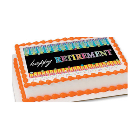 Happy Retirement Decorations (Happy Retirement Edible Extra Large 8 x 10 Cake Decoration Topper)