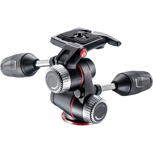 Manfrotto XPRO 3-Way, Pan-and-Tilt Head with 200PL-14 Quick Release Plate