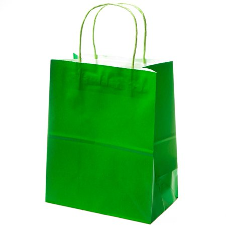 Medium Green Kraft Gift Bags - Bridesmaid Gift Bags