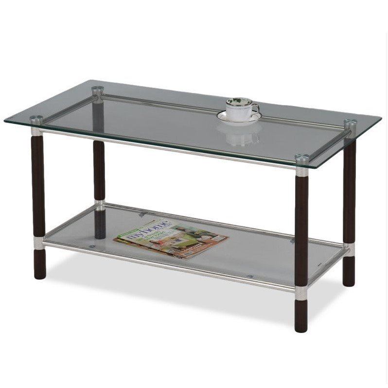 Leick Favorite Finds Glass Top Coffee Table in Coffee by Leick Furniture