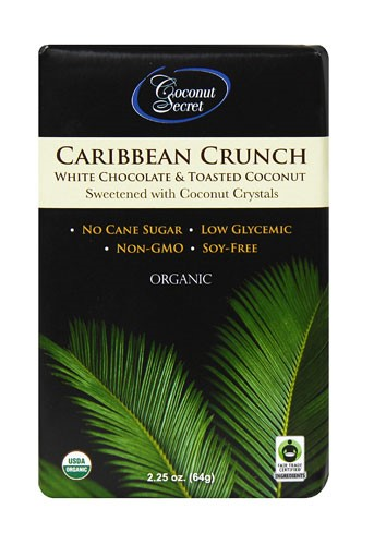 Coconut Secret Organic Caribbean Crunch White Chocolate & Toasted Coconut 2.25 oz by Coconut Secret
