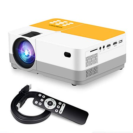 TUREWELL H3 Projector Video Projector 3600 Lumens Native 720P LCD Mini Projector 180