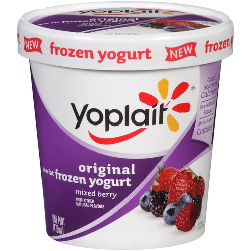 Yoplait Original Low Fat Mixed Berry Frozen Yogurt, 1 pt
