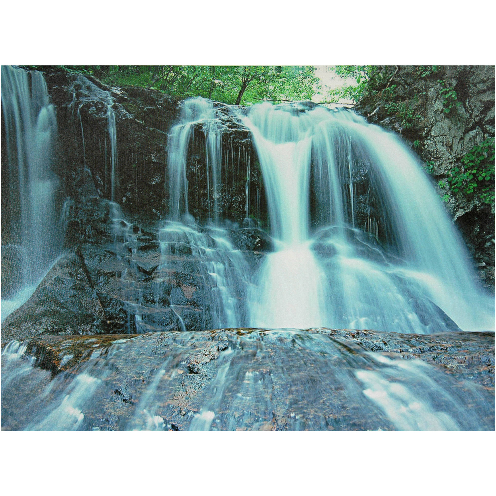 Teal Canvas Wall Art waterfall canvas wall art - walmart