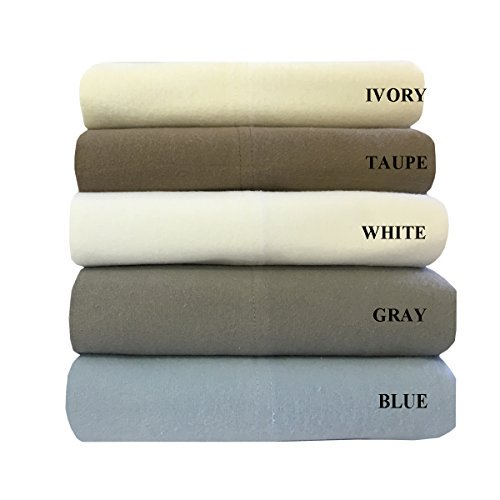 Royal S Heavy Soft 100 Cotton Flannel Sheets 5pc Bed Sheet Set Deep Pocket Thick Heavy And Ultra Soft Cotton Flannel Blue Split King Walmart Com Walmart Com