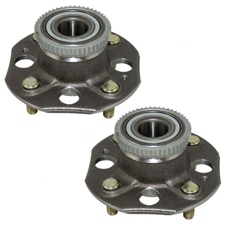 Pair of Rear Wheel Hub Bearings Replacement for 98-02 Honda Accord 2.3L w/ 4 Lug Disc Brakes 42200-S84-C31