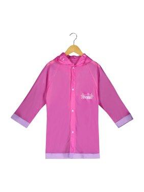 Disney Frozen Girls Pink Rain Slicker Outwear Hooded - Size Toddler and Little Kid