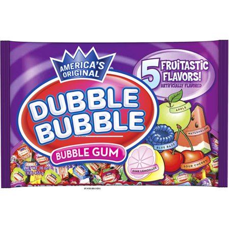 Dubble Bubble 5 Fruitastic Flavors Gum, 16 Oz.