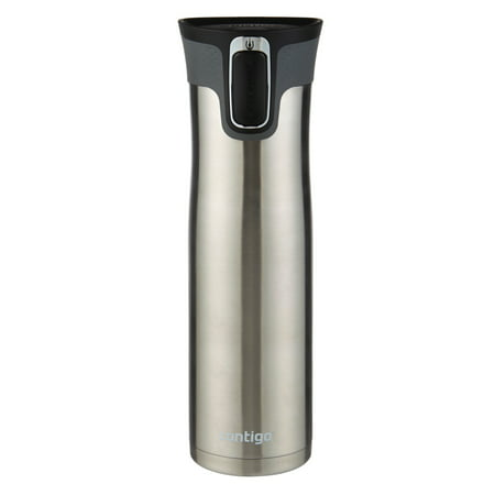 Contigo 24 oz Autoseal West Loop Vacuum Insulated Travel Mug with Easy-Clean Lid, Stainless Steel Nissan Stainless Steel Travel Mug